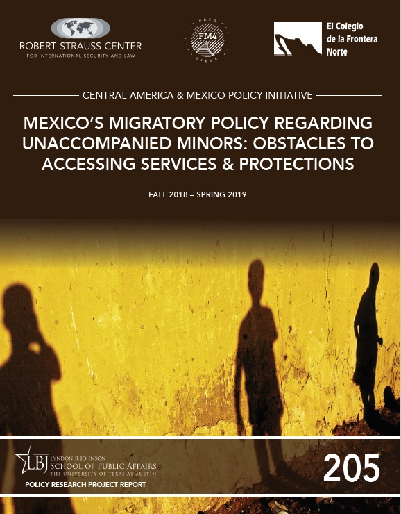 Portada de Mexico's Migratory Policy Regarding Unaccompanied Minors: Obstacles to Accessing Services and Protections
