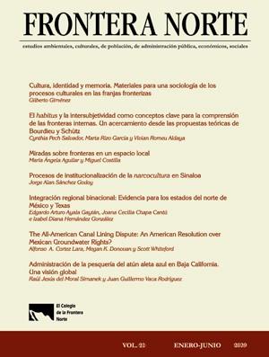 Portada de Suscripción anual a revista Frontera norte