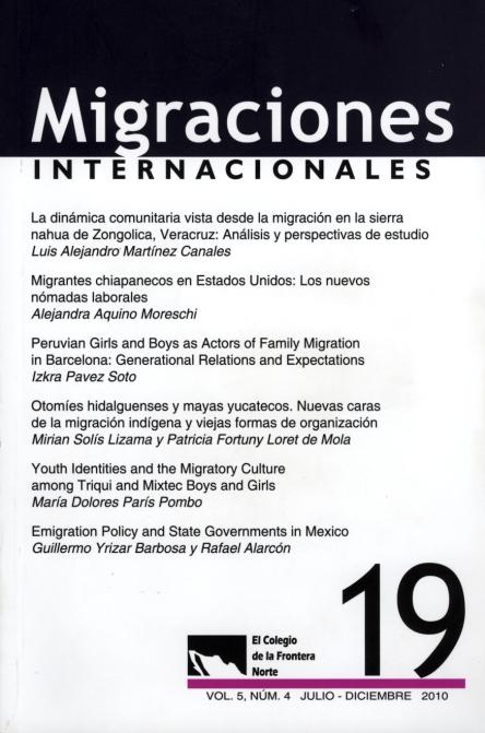 Portada de Revista Migraciones Internacionales 19