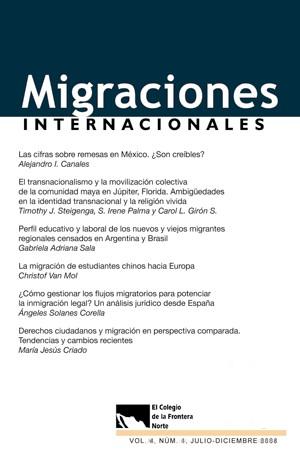 Portada de Suscripción anual a revista Migraciones Internacionales